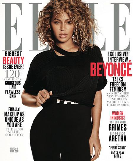 عکسهای جذاب بیانسه روی مجله ال Elle