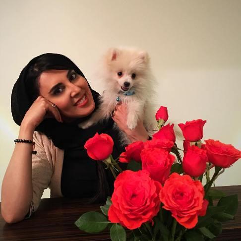 لیلا بلوکات و حیوان خانگی اش / عکس