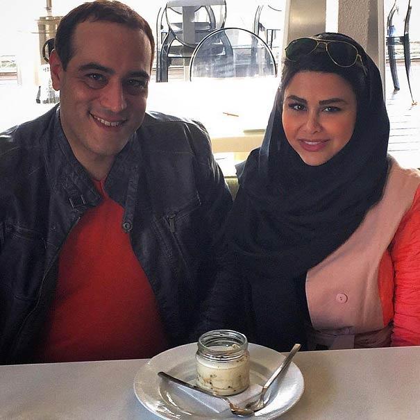 عکس جدید امیریل ارجمند و همسرش یاسمینا باهر