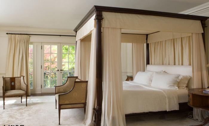 مدل تخت خواب سایبانی به سبک روستیک