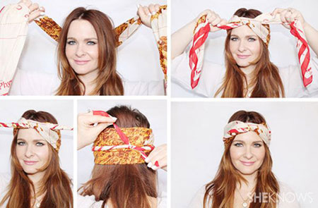 آموزش بستن شال و روسری + تصویر