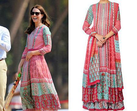 مدل لباس کیت میدلتون در هندوستان