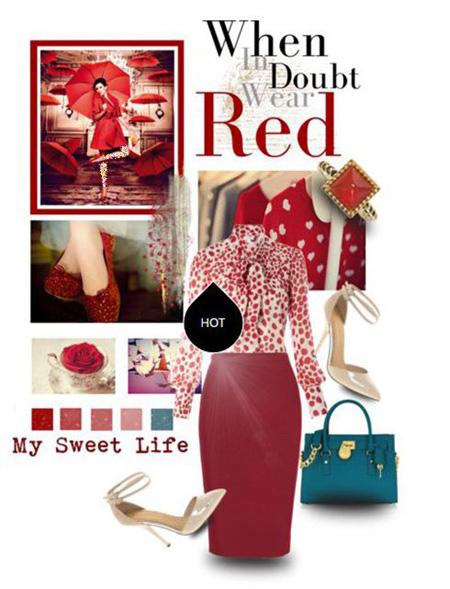 مدل ست لباس شب رنگ قرمز به سبک پنه لوپه کروز