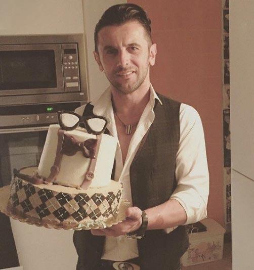 کیک تولد ۴۶ سالگی امین حیایی + عکس