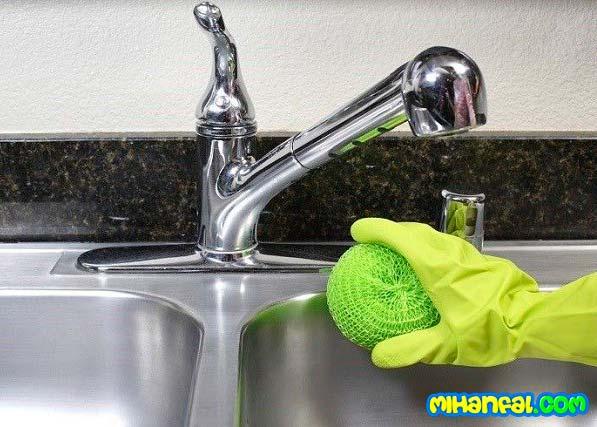 نکاتی برای تمیز کردن سینک ظرفشویی