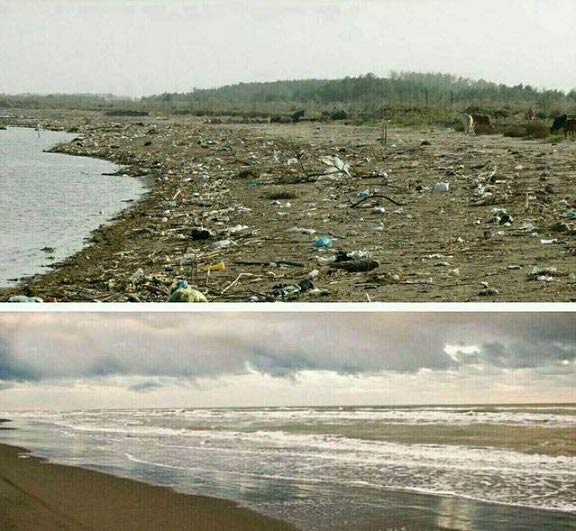 تفاوت ساحل روسیه و ایران + عکس