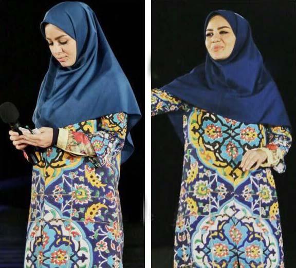 طرح مانتوی جالب خانم مجری ایرانی