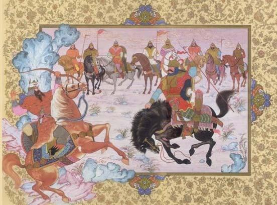 شاهنامه خوانی: داستان چهل و چهارم، رزم خاقان با غاتفر سالار هیتالیان