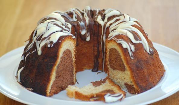 طرز تهیه کیک دو رنگ