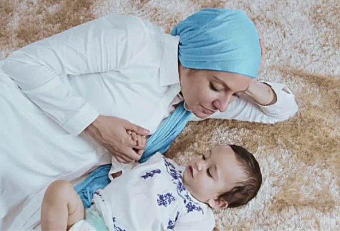 مهناز افشار و فرزندش در تبلیغات یکی از برندهای پوشک + عکس