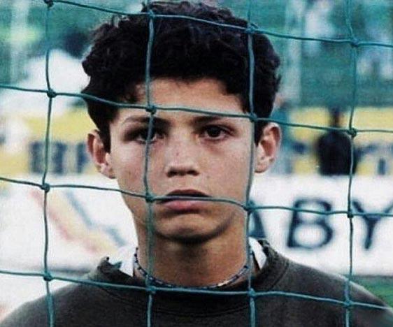 عکسی از کودکی کریس رونالدو
