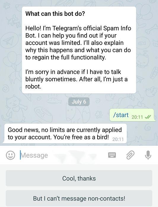 آموزش طریقه رفع ریپورت در تلگرام + عکس