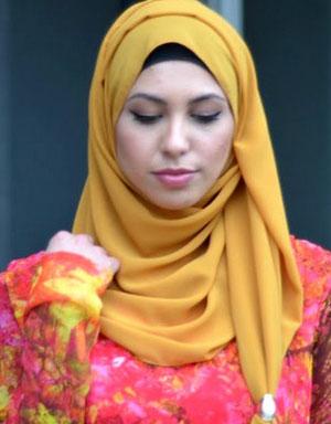 نمونه های زیبای بستن روسری و شال
