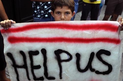 تظاهرات پناهجویان در اعتراض به شرایط زندگی شان – آتن