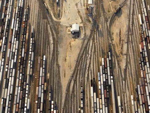 توقفگاه واگن های خط آهن در هوستون تگزاس