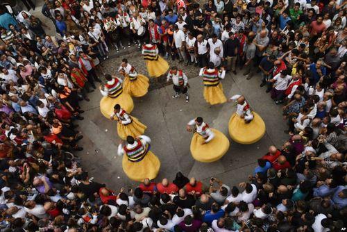 یک جشنواره خیابانی و آیینی در شمال اسپانیا