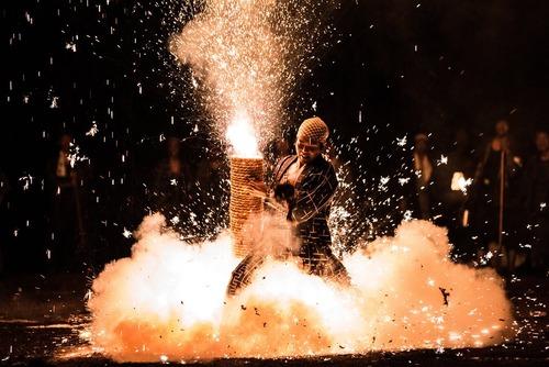 جشنواره آتش بازی در شهر تویوهاشی ژاپن