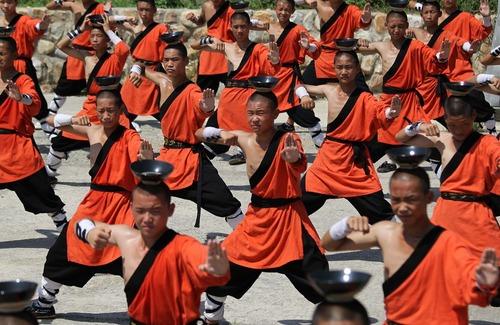 تمرین شائولین در چین