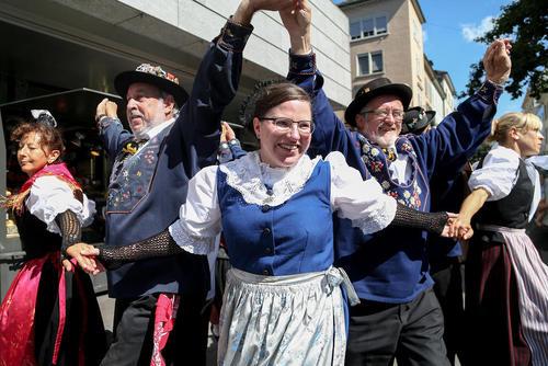 جشن روز ملی سوییس در شهر زوریخ