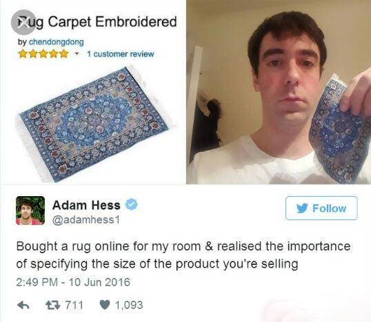 یک اشتباه خنده دار در خرید اینترنتی + عکس