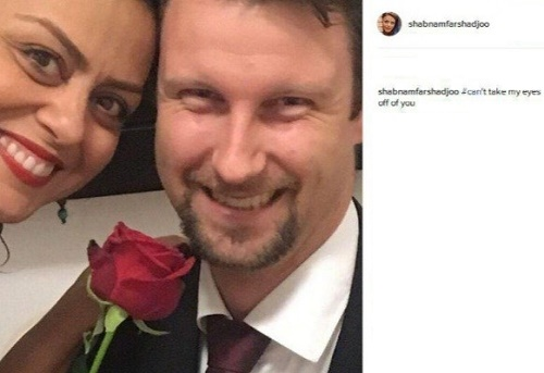 ازدواج خانم بازیگر مشهور ایرانی با یک خارجی + عکس