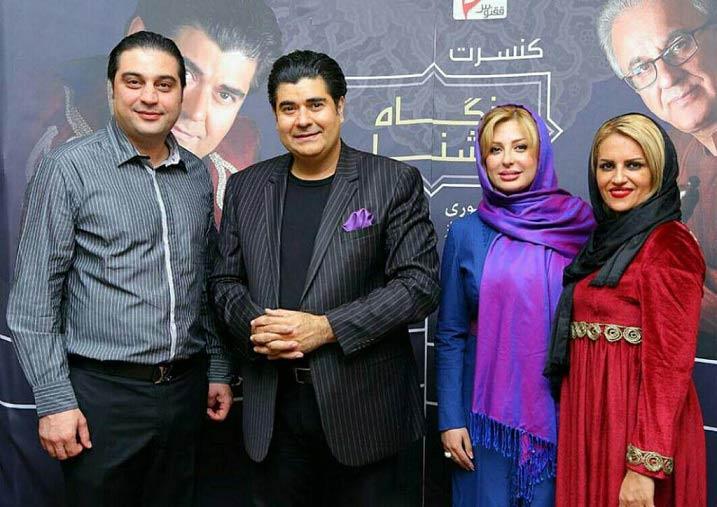 عکس سالار عقیلی و همسرش در کنار نیوشا ضیغمی و همسرش