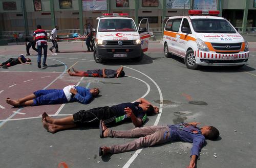 برگزاری مانور امداد و نجات – غزه