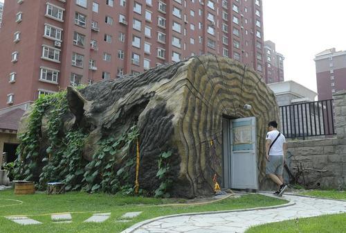 توالت عمومی درختی در جیلین چین