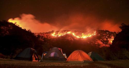 آتش سوزی در جنگل های کالیفرنیا
