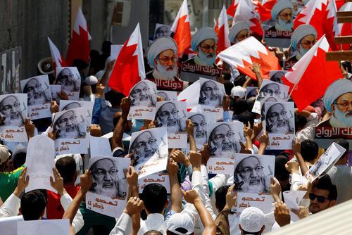 تظاهرات مخالفان حکومت بحرین در حاشیه نماز جمعه منامه