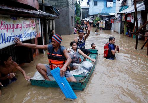سیل در شهر ریزال فیلیپین