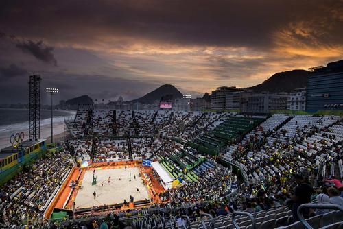 استادیوم محل برگزاری بازی های والیبال ساحلی المپیک ریو 2016