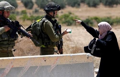 ایست بازرسی اسراییل در کرانه غربی