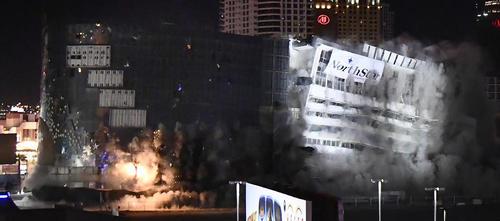 منفجر ساختن ساختمان یک کازینو و هتل در لاس وگاس آمریکا