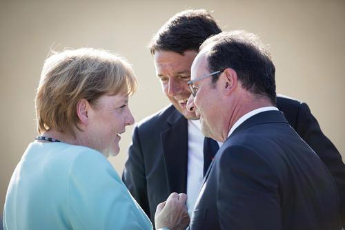 دیدار سران سه کشور اروپایی آلمان، فرانسه و ایتالیا – آلمان
