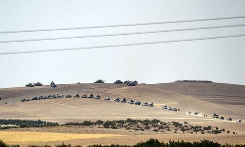 ورود ستون تانک های ارتش ترکیه به درون خاک سوریه