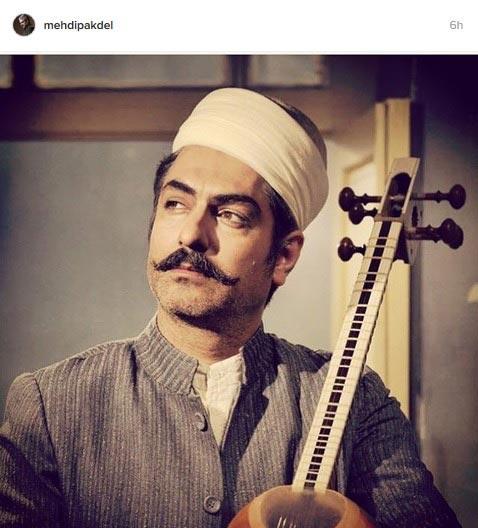 پوشش جالب و تاریخی بازیگر مشهور ایرانی + عکس
