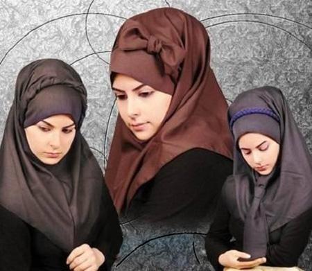 مدل های جدید و زیبای مقنعه دانشجویی