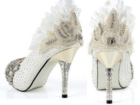 مدل جدید کفش عروس 2017