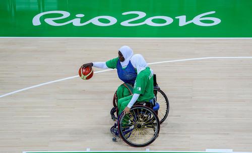 تیم بسکتبال زنان الجزایر در مسابقات پارا المپیک ریو