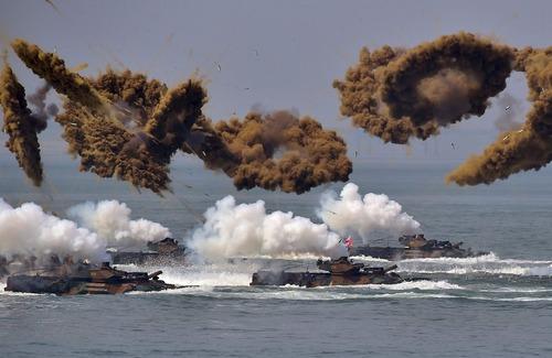 رزمایش نیروهای نظامی کره جنوبی