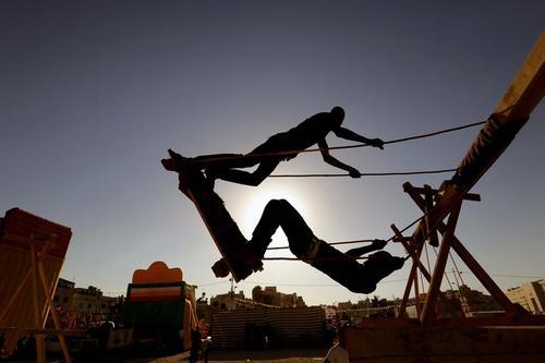 پارکی در شهر امان اردن