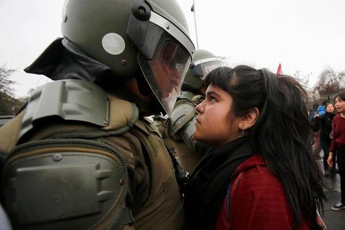 تظاهرات در سالگرد کودتای 1973 پینوشه در شیلی – شهر سانتیاگو