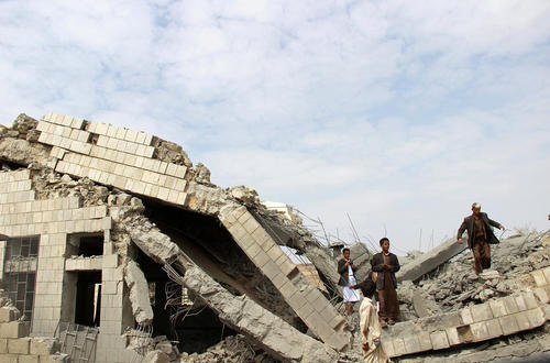 حمله جنگنده های سعودی به مدرسه ای در شهر صعده یمن