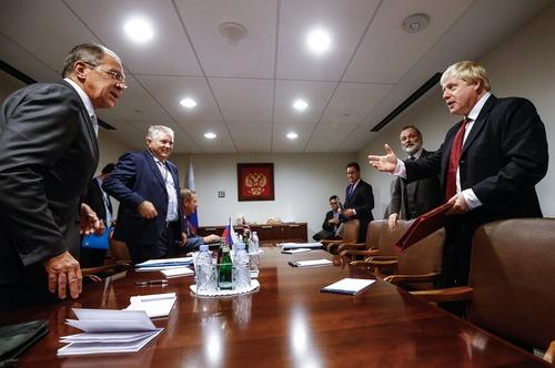 دیدار وزرای امور خارجه بریتانیا و روسیه در حاشیه هفتادویکمین نشست مجمع عمومی ملل متحد در نیویورک
