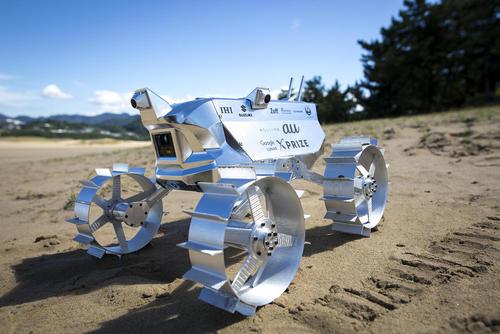 تست روبات کاوشگر فضایی ژاپنی که از سوی دانشجویان و محققان دانشگاه