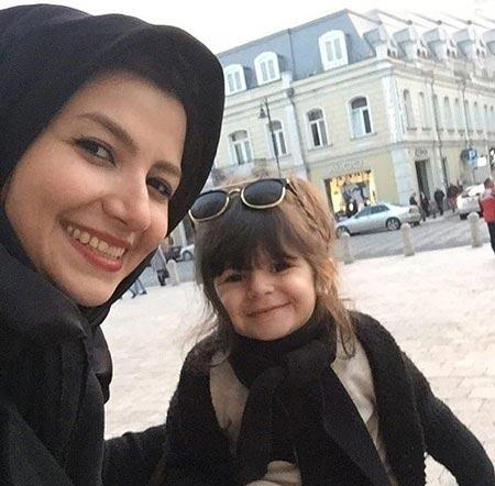 عکس جدید ملیکا زارعی و دخترش