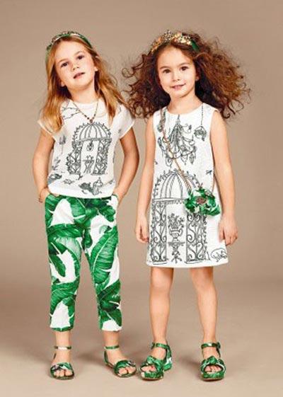 مدل های لباس پاییزی دخترانه دولچه گابانا