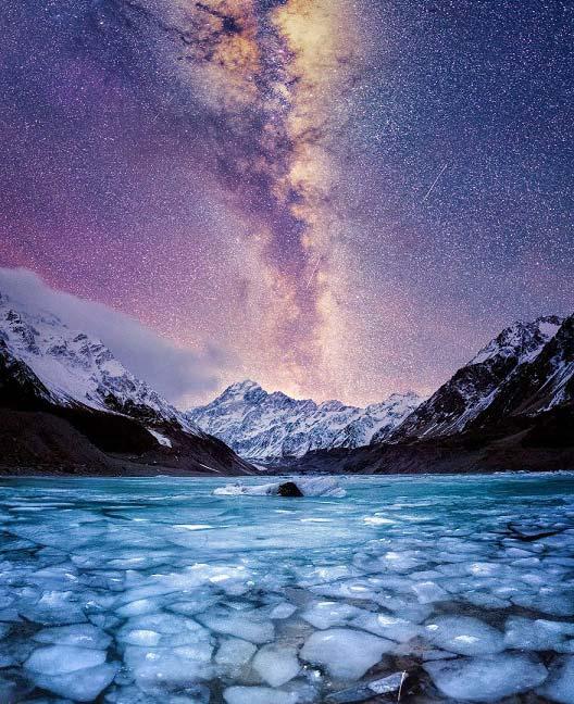 تصاویر بی نظیر از شب های زمستانی نیوزیلند