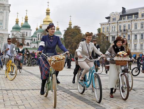جشنواره دوچرخه سواری در شهر کی یف اوکراین